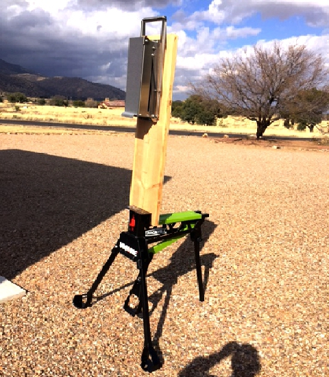 This model 2250 is mobile - fixed to a plank held by  a Rockwell Jawhorse.  Brilliant idea from Ed in Arizona