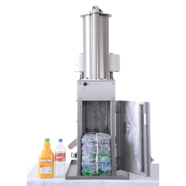 Bale PET plastic juice bottles and soda bottles